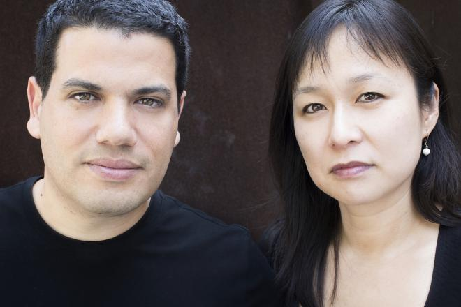 Tarik Oualalou and Linna Choi. Photo: Charlotte Valode.