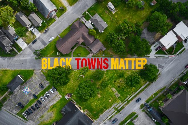 Black Towns Matter mural