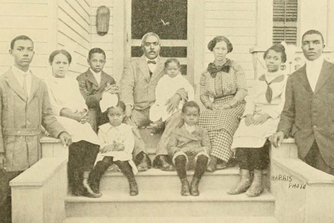 W. H. Monroe and family, 2502 Gray Avenue. Courtesy Woodson Research Center.