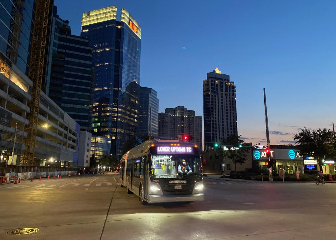 Uptown's METRORapid Silver Line. Photo by Christof Spieler.