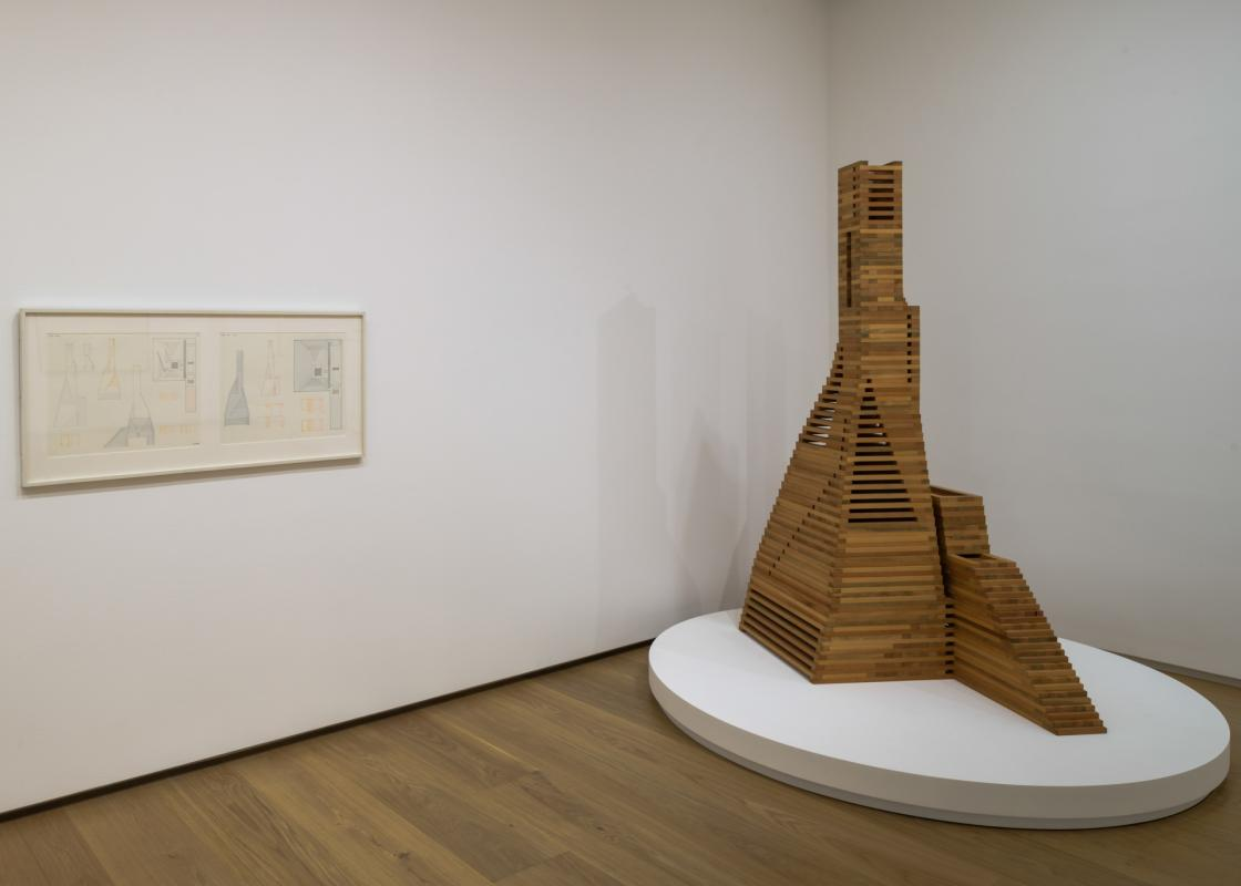 """Installation view of """"Dream Monuments."""" Photo by Paul Hester. Courtesy Menil Drawing Institute."""