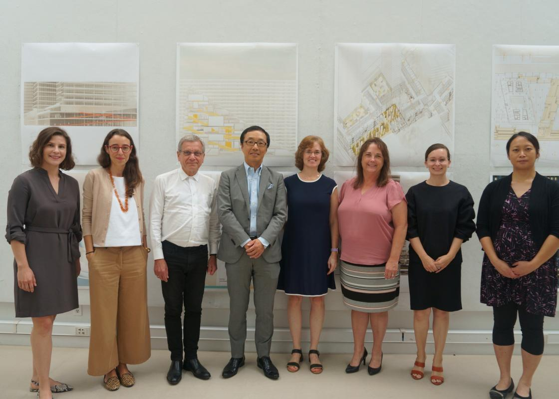 Group photo of RDA Rice Architecture and Mitsui representatives