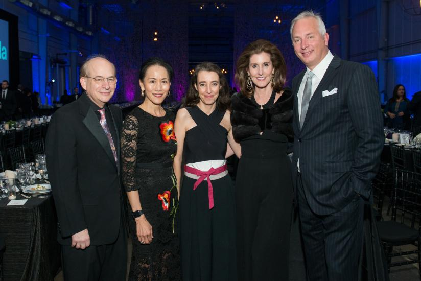 Rice University President David Leebron and wife Ping Sun, RDA Exec Dir Maria Nicanor, and  Phoebe and Bobby Tudor.jpg