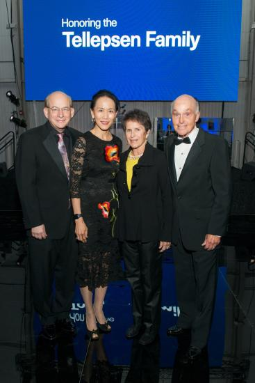 Rice University President David Leebron with wife Ping Sun and Carolyn and Howard Tellepsen.jpg