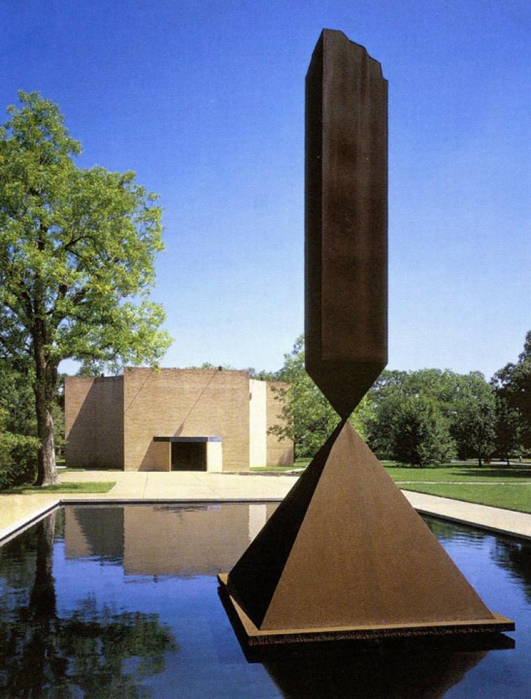 Barnett Newman, Broken Obelisk (1963/1967). © 2020 The Barnett Newman Foundation / Artists Rights Society (ARS), New York.