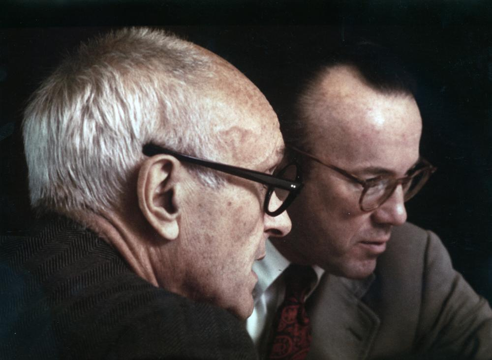 Philip Johnson and Gerald D. Hines. Photo by Hines.