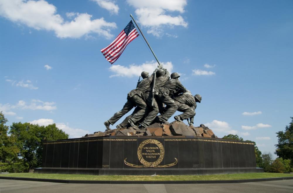 Felix de Weldon, Marine Corps War Memorial (1954). Bronze, height 32'. Arlington, VA.