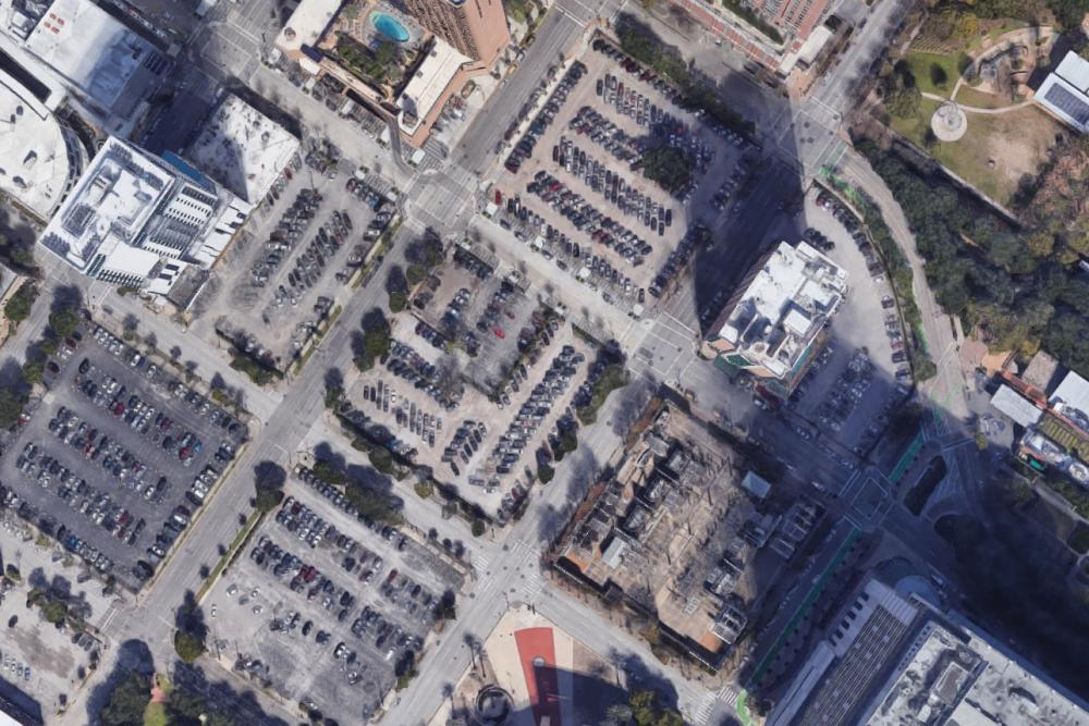1550 on the Green's site and adjacent blocks. Image via Google Maps.