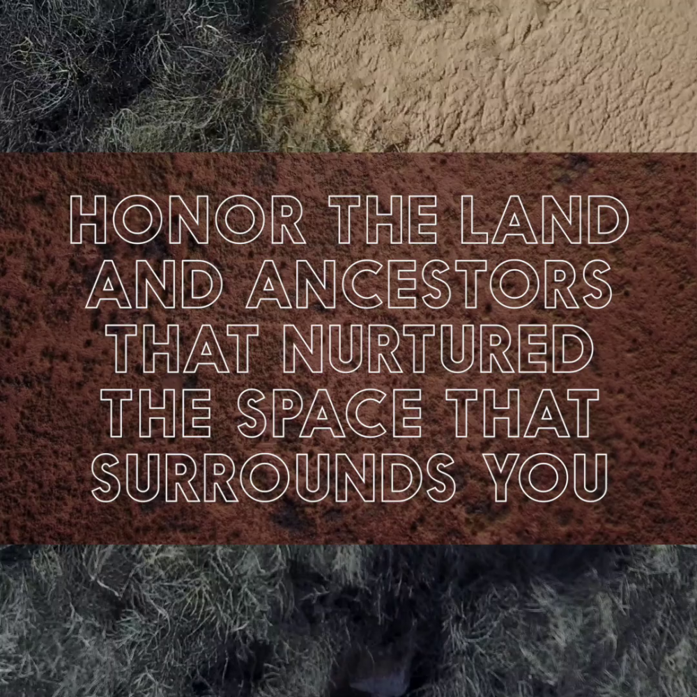 """Burying White Supremacy,"" Demian DinéYazhi' and Ginger Dunhill, 2018, 1-channel video, sound, 4 minutes, 1 second. Courtesy the artists via ""Rewrite the World,"" curated by Ana Tuazon."