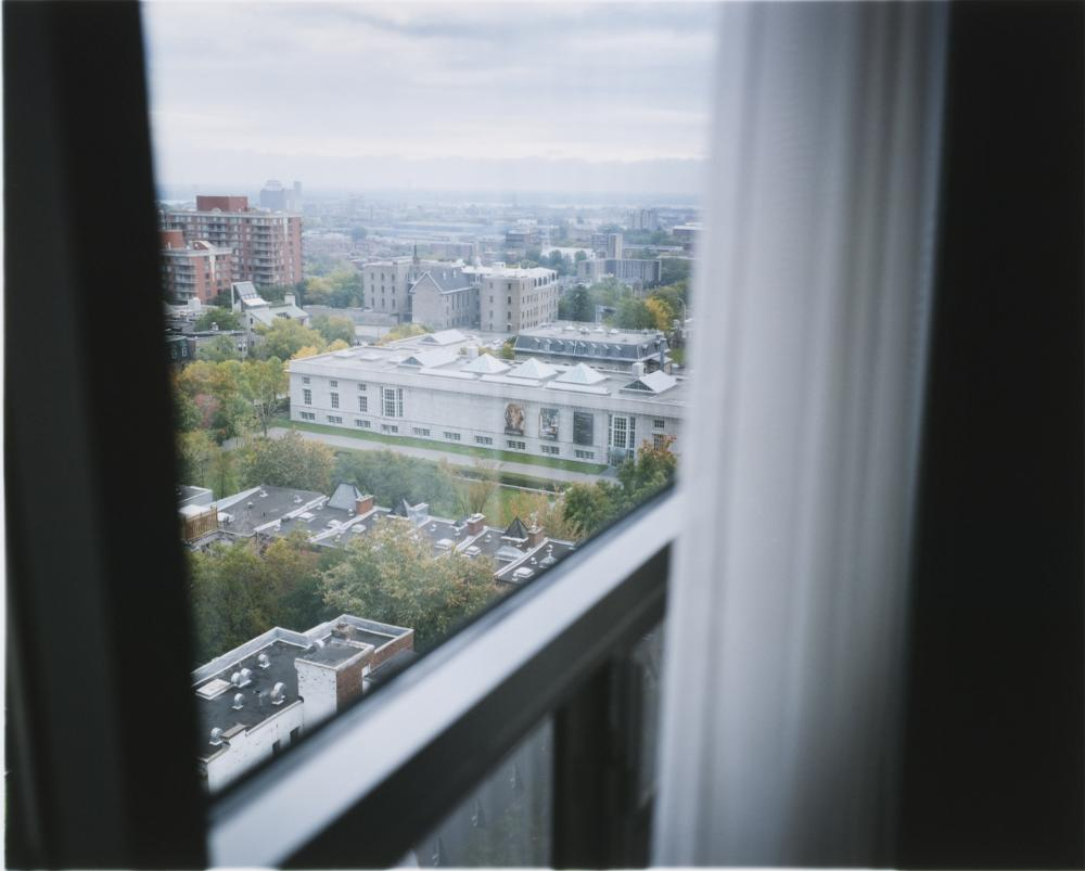View of the CCA from a window of Hôtel du Fort, Montreal. Photograph by Naoya Hatakeyama. Collection CCA. Gift of the artist. © Naoya Hatakeyama.