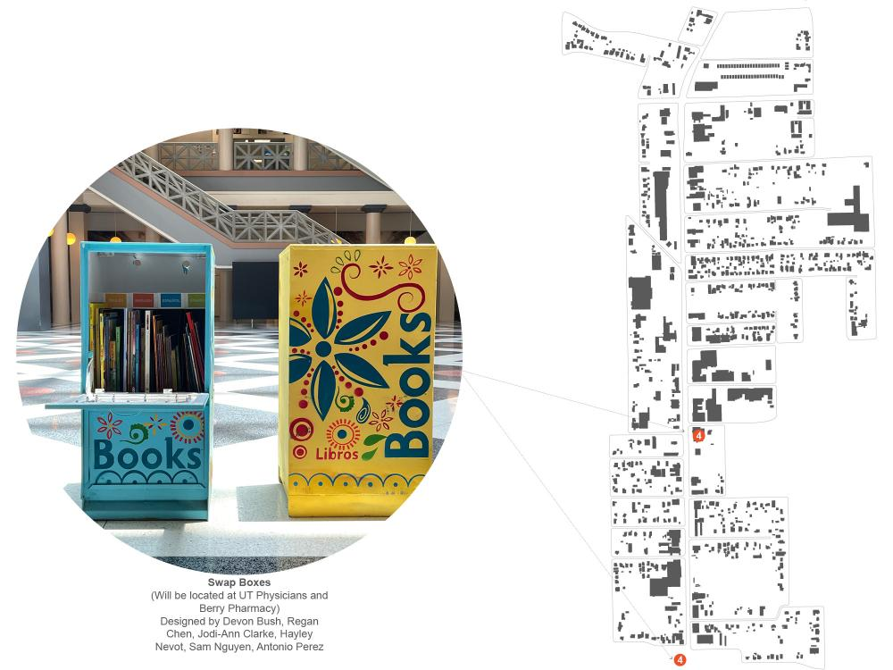 Swap Boxes, Designed by Devon Bush, Regan Chen, Jodi-Ann CLarke, Hayley Nevot, Sam Nguyen, and Antonio Perez. Courtesy CDRC.