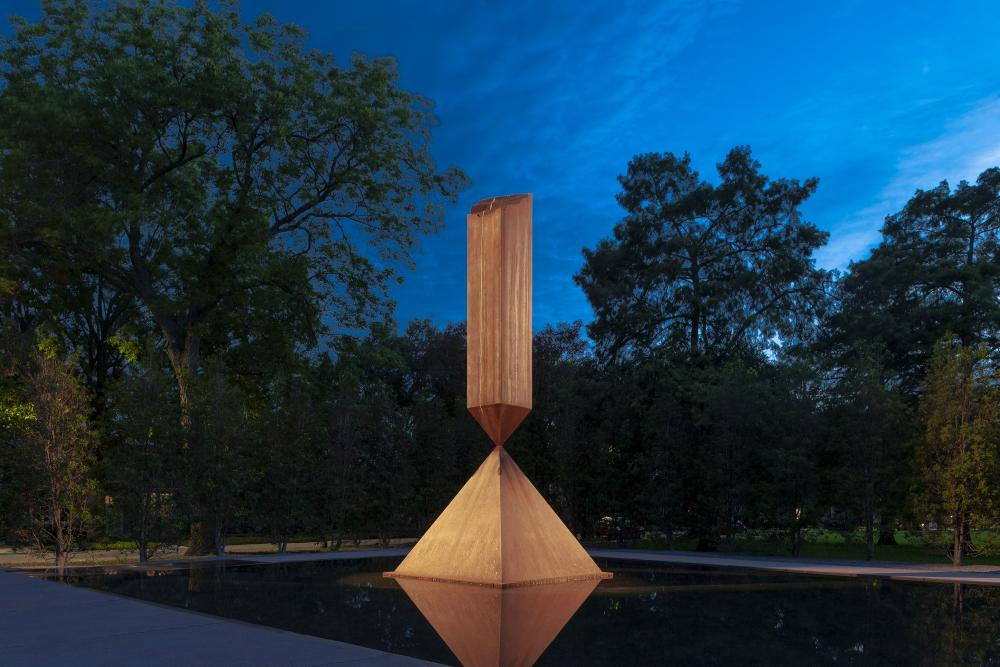 Broken Obelisk in the Rothko Chapel Plaza. © Paul Hester.