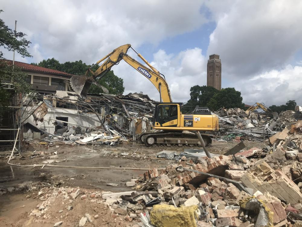 Demolition progress on June 9, 2021.