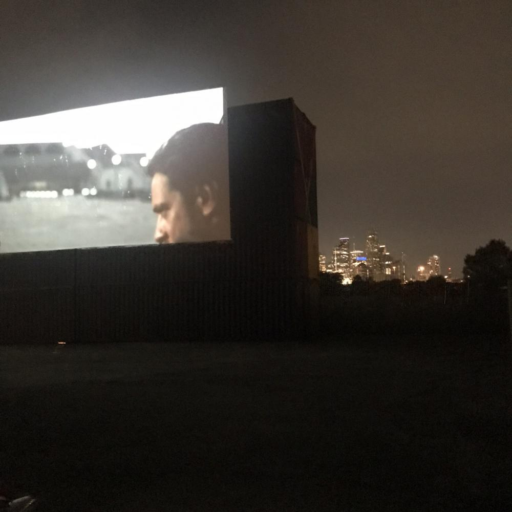 "Watching Christopher Nolan's new film ""Tenet"" at Moonstruck Drive-In. Image by Jack Murphy."