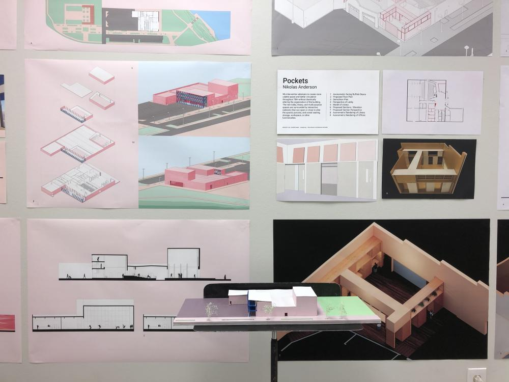 Exhibition of student work at TBH. Image via Amelyn Ng.
