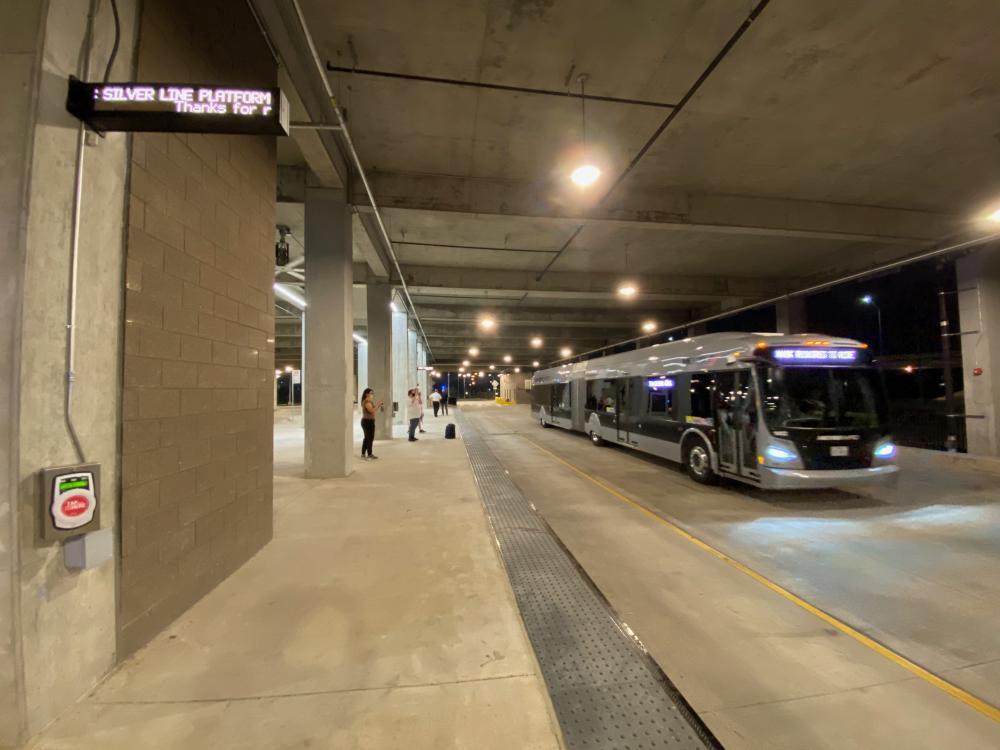 Westpark/Lower Uptown Transit Center, by Gunda Engineering. Photo by Christof Spieler.