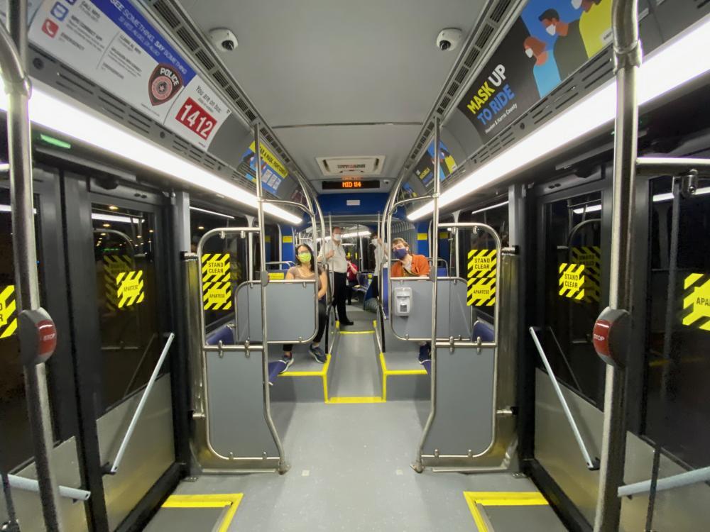 Silver Line BRT interior. Photo by Christof Spieler.