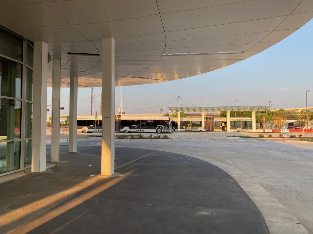 Northwest Transit Center, by HNTB. Photo by Christof Spieler.