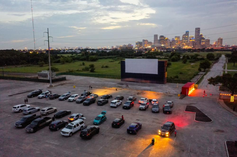 An aerial shot of Moonstruck Drive-In. Photo by Shannon O'Hara, courtesy Midway.
