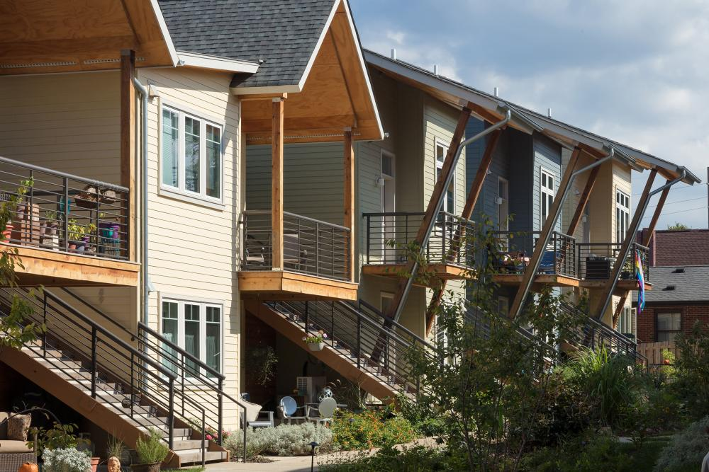 Germantown Commons Cohousing in Nashville, designed by Caddis Collaborative. Photo by Boyd Pearman Photography.