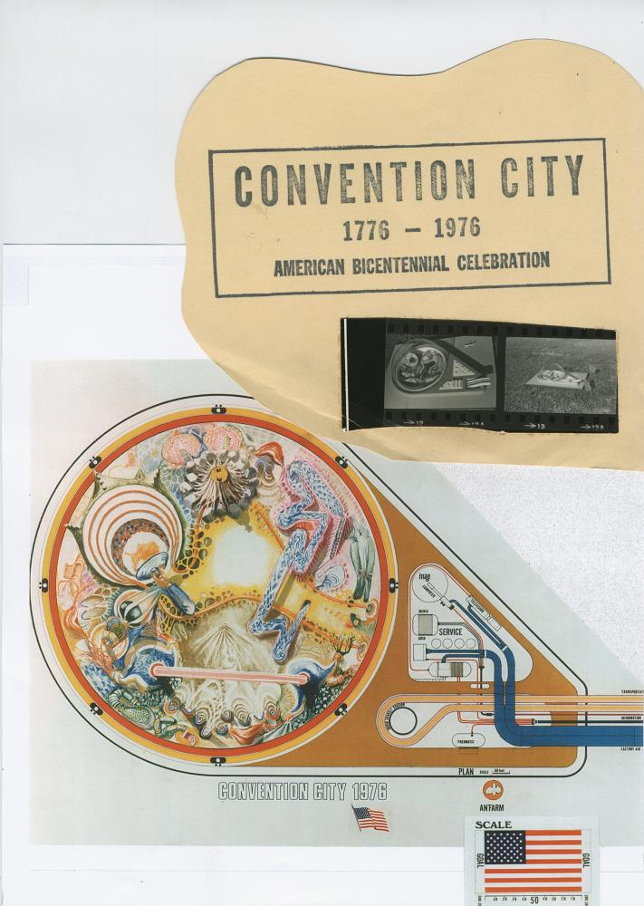 """""""Convention City"""" (1972) by Ant Farm. Archival image. Courtesy Chip Lord."""