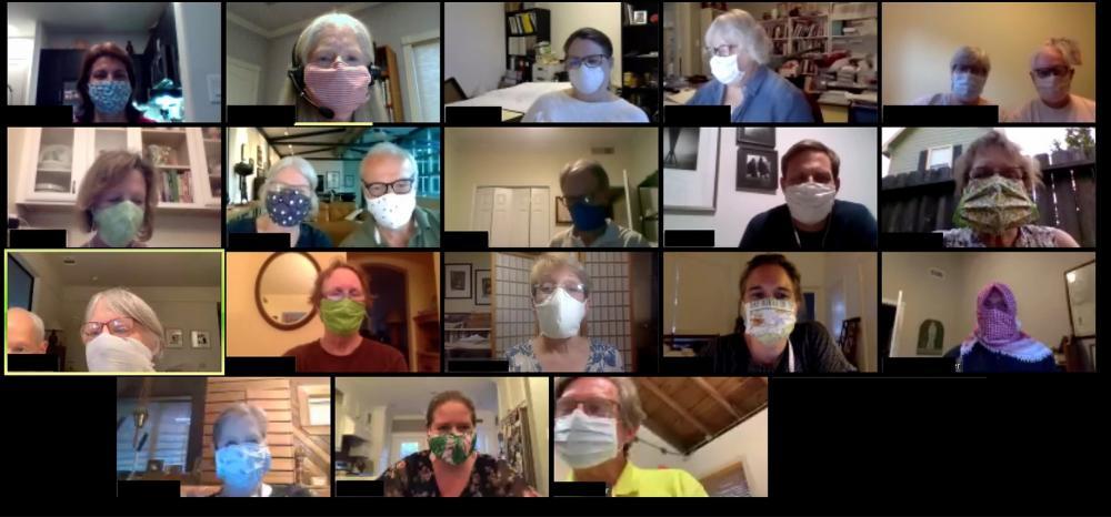 Cohousing Houston participants during a recent online meeting. Courtesy Cohousing Houston.