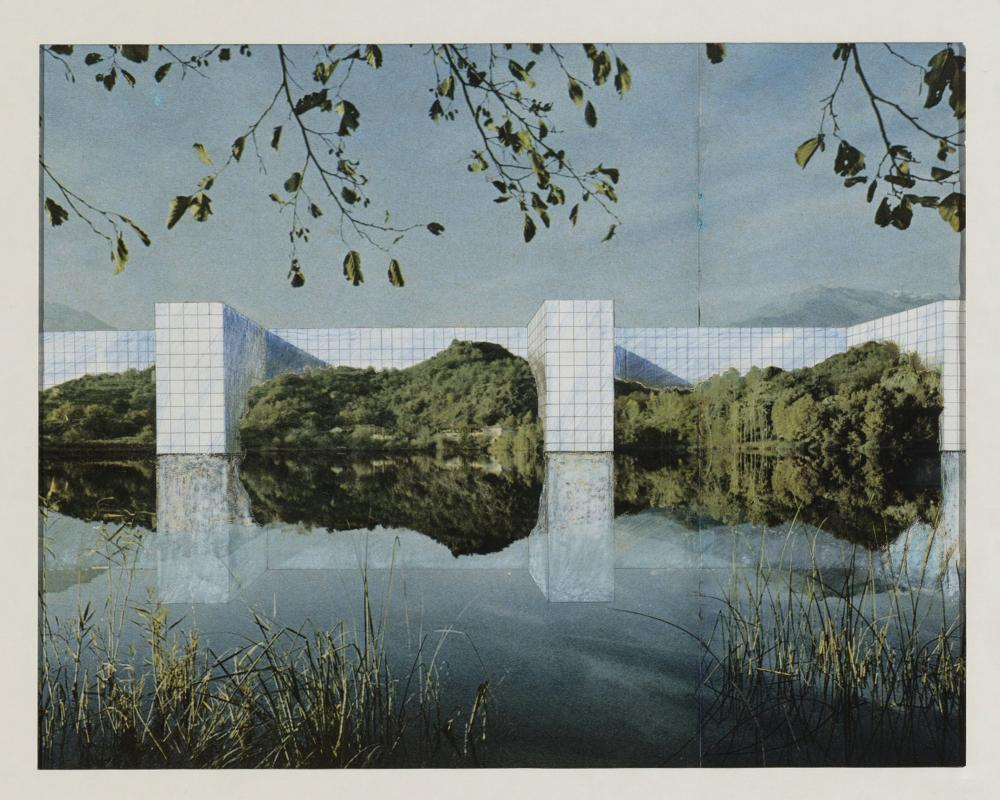 On the River, project (Perspective). 1969. Image via MoMA.
