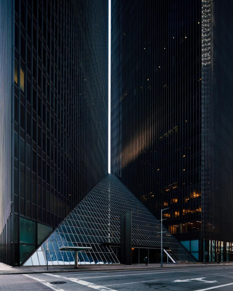 Pennzoil Place. Photo by Leonid Furmansky.