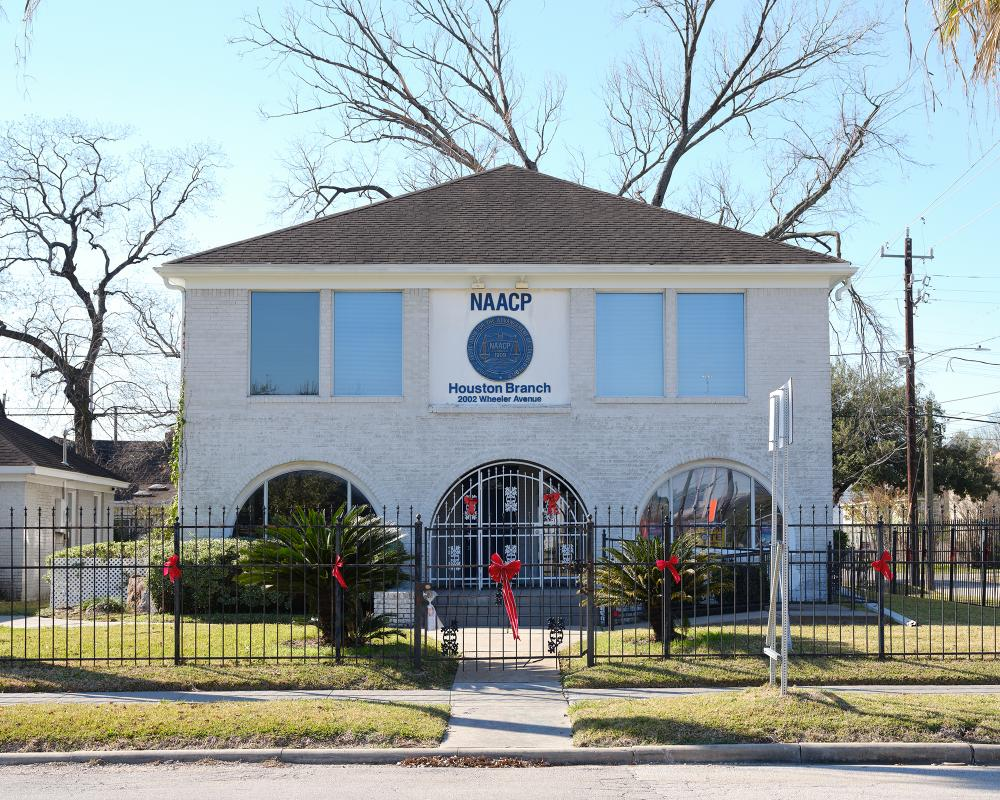 Houston's NAACP branch in the Third Ward. Photo by Leonid Furmansky.