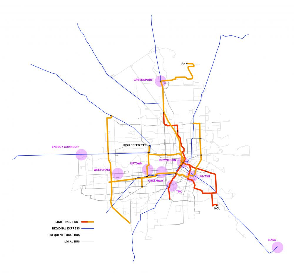 Diagram of full extent of MetroNEXT's anticipated expansions. Image by Christof Spieler.