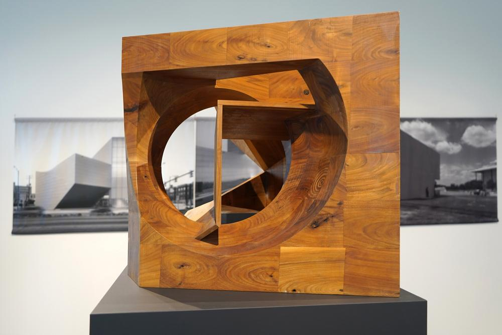 Ex of In XII, CNC milled walnut, 2015.