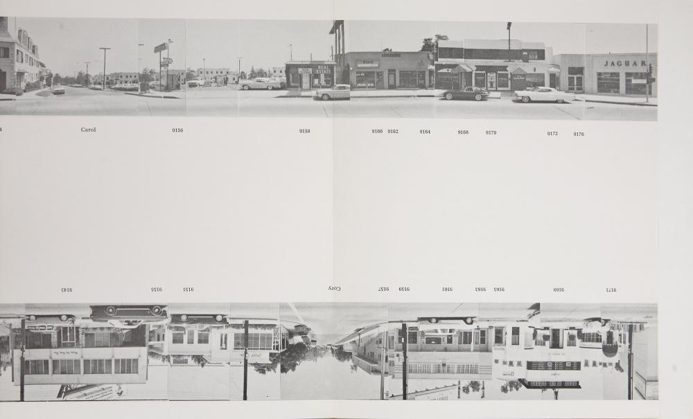 Ed Rusha, Every Building on the Sunset Strip, 1966. Via Heritage Auctions.