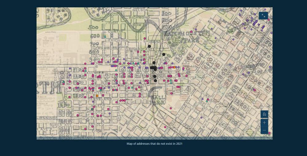 Story Map screenshot. Courtesy Woodson Research Center.