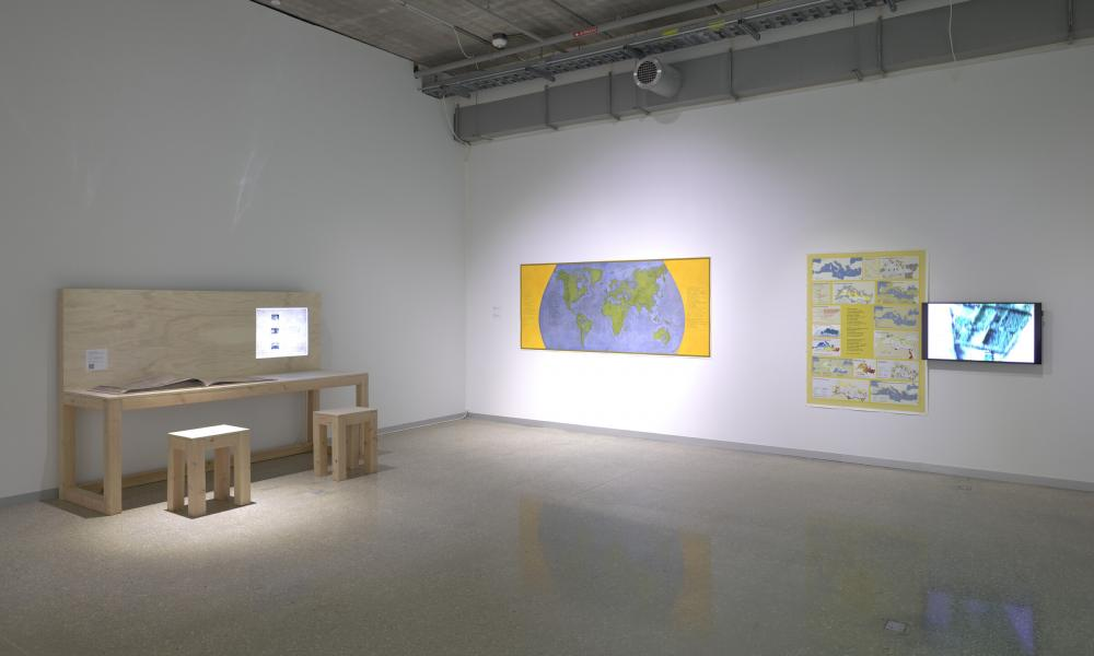"""Rewrite the World,"" curated by Ana Tuazon, installation view. Photo by Will Michels, courtesy of the Museum of Fine Arts, Houston."