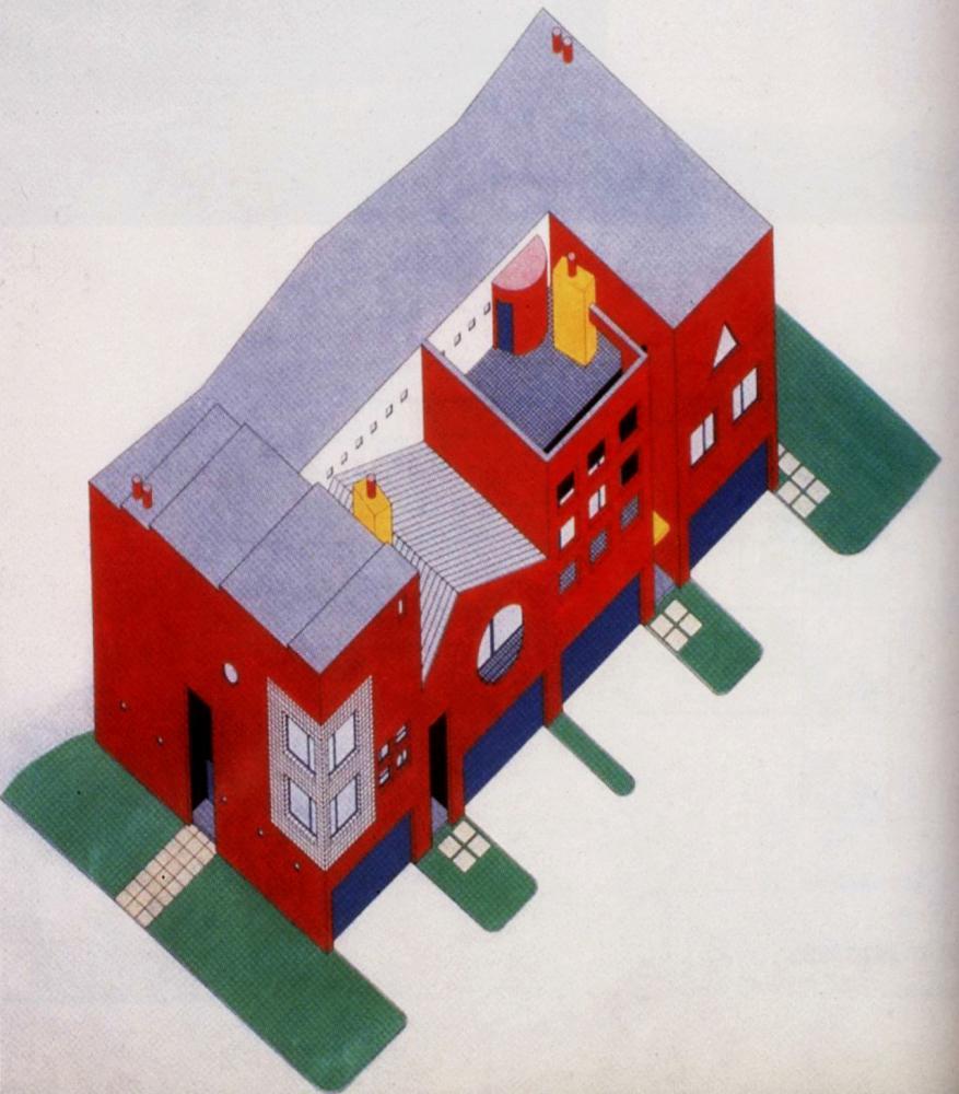 Arquitectonica, Mandell Residences, Houston, 1984-1985. Image via Archive of Affinities.