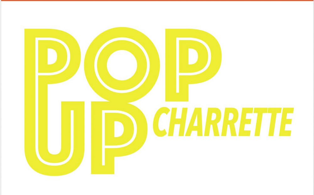 Yellow Graphics spelling PopUp Charette