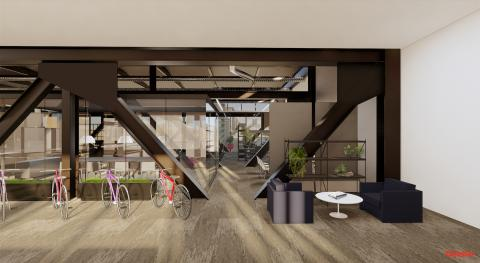 Gensler's new office in 2 Houston Center. Interior render. Image courtesy Gensler